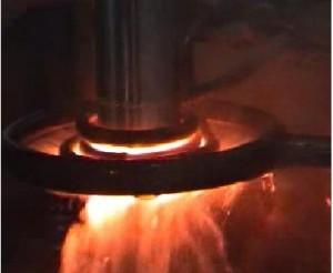 高频炉淬火活塞杆