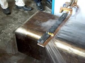 高频炉方钢枕淬火
